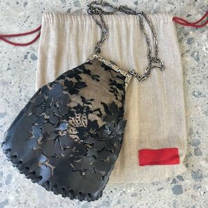 One of a kind VALENTINO Lace & Leather Bag